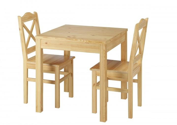 Esszimmergruppe Mit Tisch Und 2 Stuhle Kiefer Natur Massivholz 90 70
