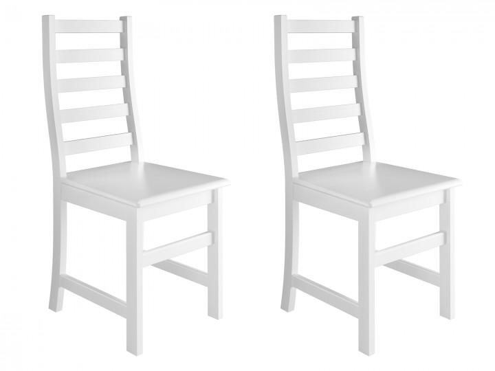 Weißer Stuhl Eris Küchenstuhl Massivholzstuhl Esszimmerstuhl 9071