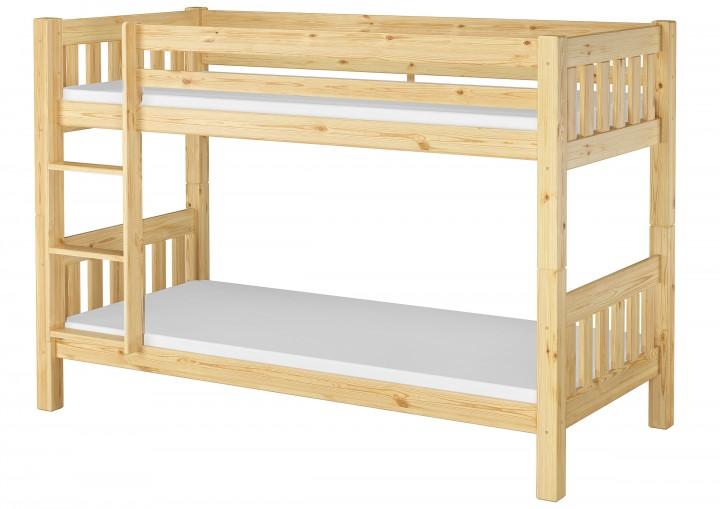 Kinderetagenbett massiv Kiefer Kinderzimmer 90x200 Stockbett Hochbett  Kinderbett + Matratzen 60.06-0
