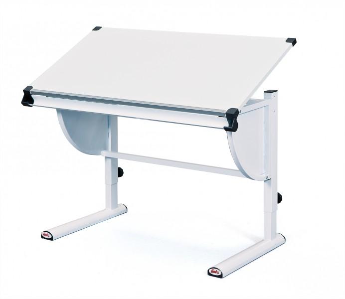 Jugend Schreibtisch Kinderschreibtisch Metall Melamin Weiß