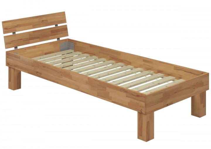 hohes massivholzbett buche 120x220 einzelbett seniorenbett inkl rollrost erst holz. Black Bedroom Furniture Sets. Home Design Ideas