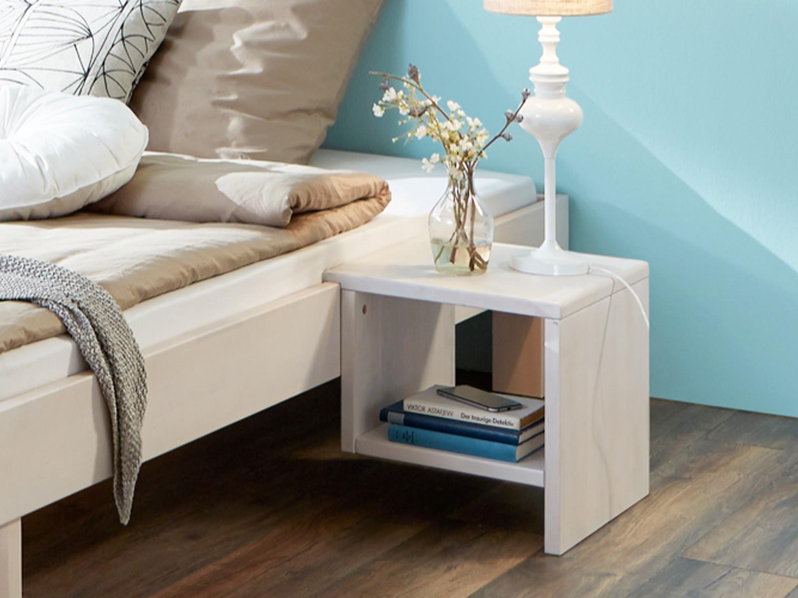 w nachttisch waschwei nachtkonsole nachtk stchen wei beistelltisch buche massiv. Black Bedroom Furniture Sets. Home Design Ideas