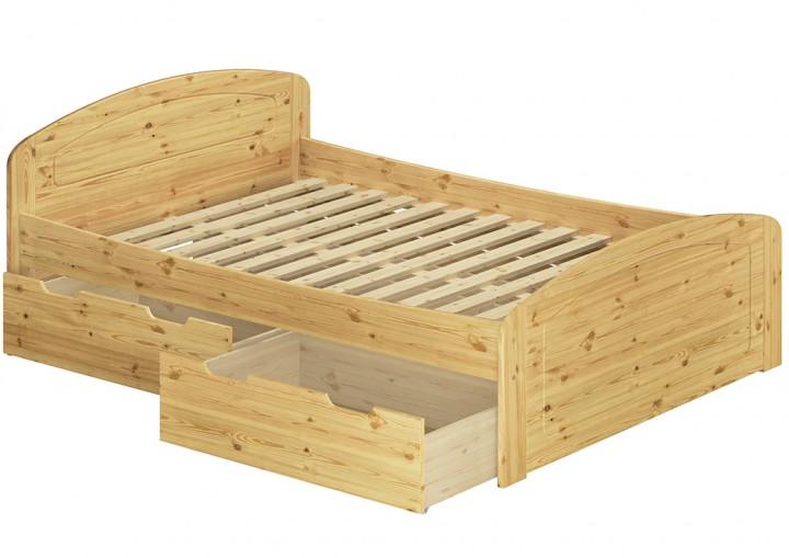 Funktionsbett Doppelbett 3 Bettkasten Federleisten 180x200 Seniorenbett Massivholz Kiefer 60.50-18FL