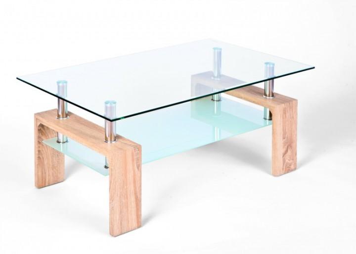 Couchtisch Loana Sonoma Eiche Mit Glas 9919400020 Erst Holz