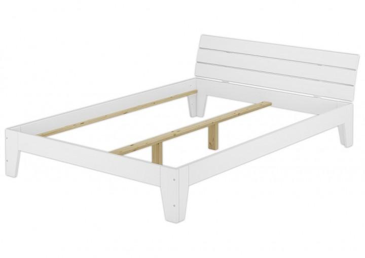 doppelbett 140x200 futonbett jugendbett bettgestell holzbett massivholz kiefer wei w. Black Bedroom Furniture Sets. Home Design Ideas