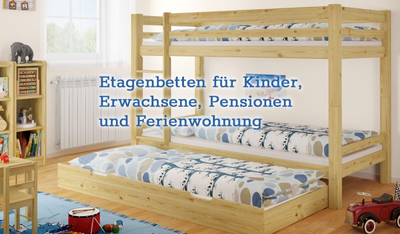 Etagenbett Naturholz : Erst holz ®