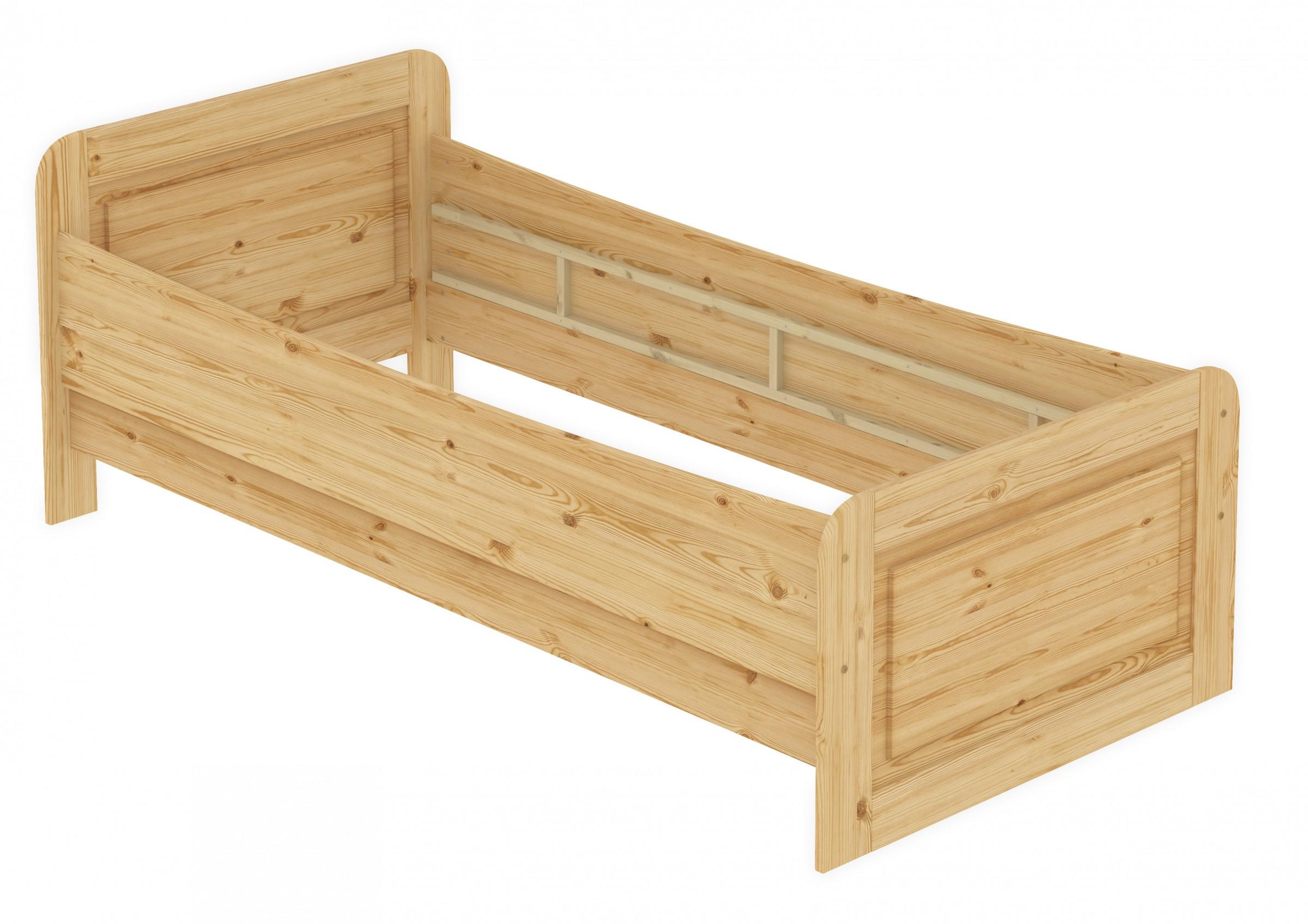 seniorenbett extra hoch 120x200 einzelbett holzbett g stebett massivholz kiefer bett or. Black Bedroom Furniture Sets. Home Design Ideas