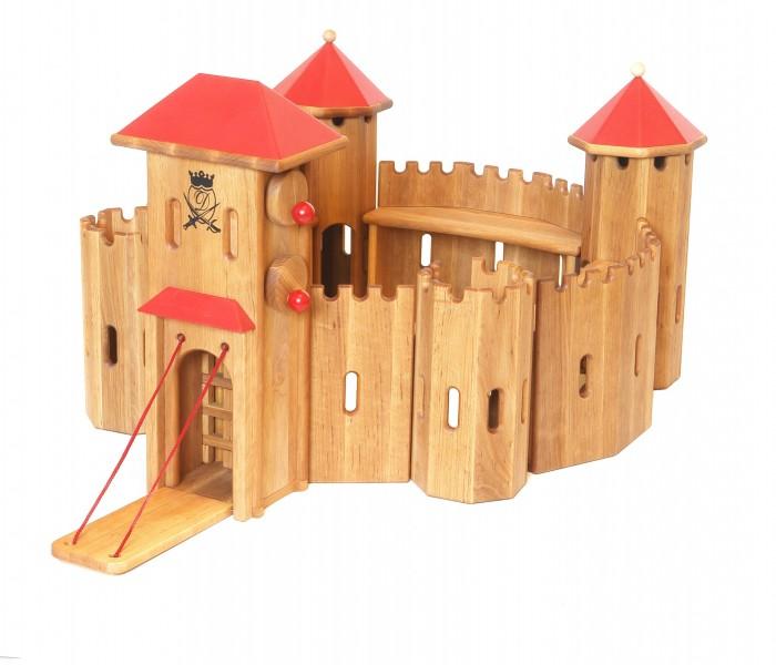 Holzspielzeug Ritterburg Massiv Holz
