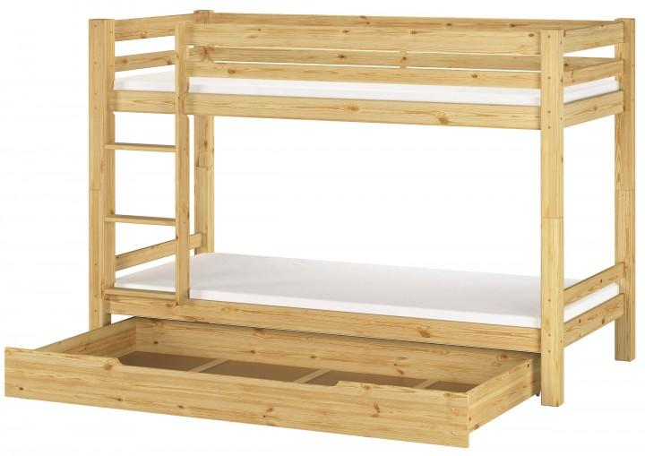 etagenbett stockbett kiefer massiv matratze bettkasten 90x200 kinderbett m s1. Black Bedroom Furniture Sets. Home Design Ideas