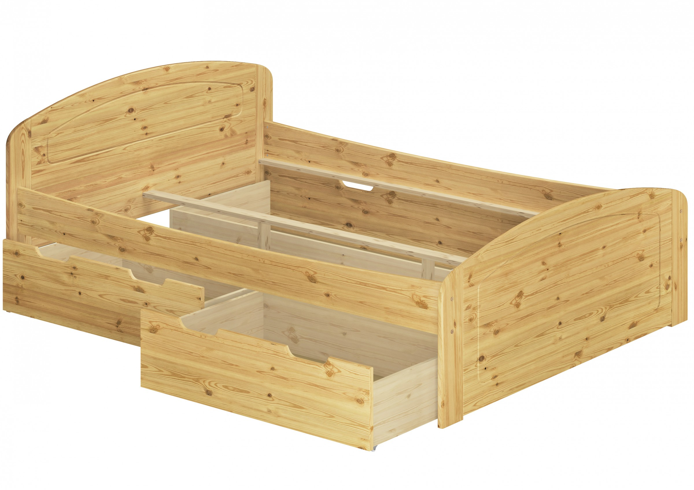 Funktionsbett Überlänge 180x220 Bettgestell 3 Bettkasten ...