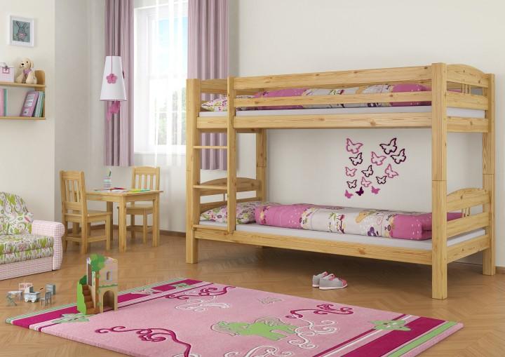 Etagenbett Kinderzimmer : Etagenbett kiefer 90x200 stockbett sehr massiv kinderzimmer