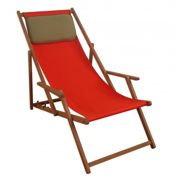 sonnenliege deckchair rot liegestuhl klappbare gartenliege. Black Bedroom Furniture Sets. Home Design Ideas