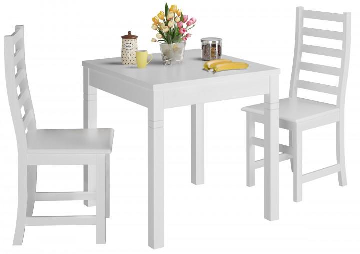 Tisch-und Stuhlset mit Tisch und 2 Stühle skandinavischer Look ...