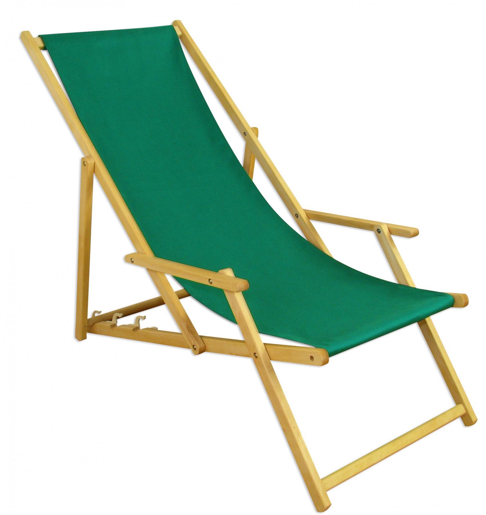 Liegestuhl Holz Mit Armlehne.Liegestuhl Gartenliege Grün Sonnenliege Strandliege Holz Deckchair Gartenmöbel Buche 10 304 N