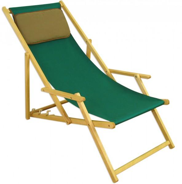 Liegestuhl Gartenliege Grun Sonnenliege Kissen Strandliege Holz