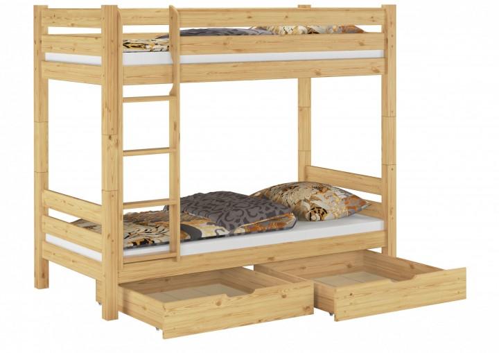 Etagenbett Weiss Mit Bettkasten : Etagenbett kiefer weiß mit matratzen und rollroste