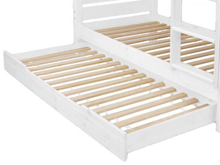 Etagenbett Mit Gästebett : Bettkasten als zusatzbett für unsere etagenbetten kiefer weiß