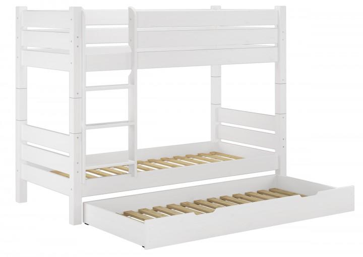 Etagenbett Mit Gästebett : Etagenbett kiefer weiß cm nische teilbar rollroste