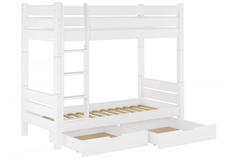 Stabiles Etagenbett Für Erwachsene : Etagenbett für erwachsene kiefer weiß teilbar rollroste