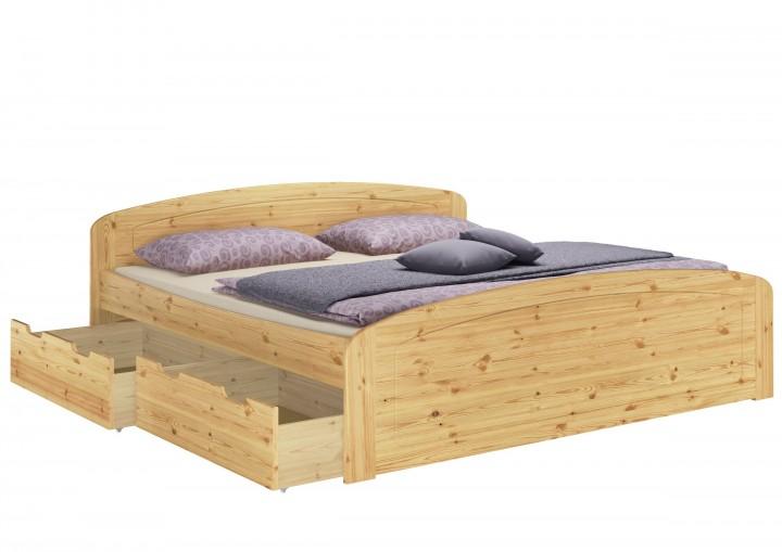 Funktionsbett Doppelbett in Kiefer natur