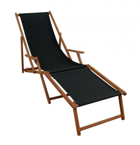 Liegestuhl-Relaxliege-schwarz