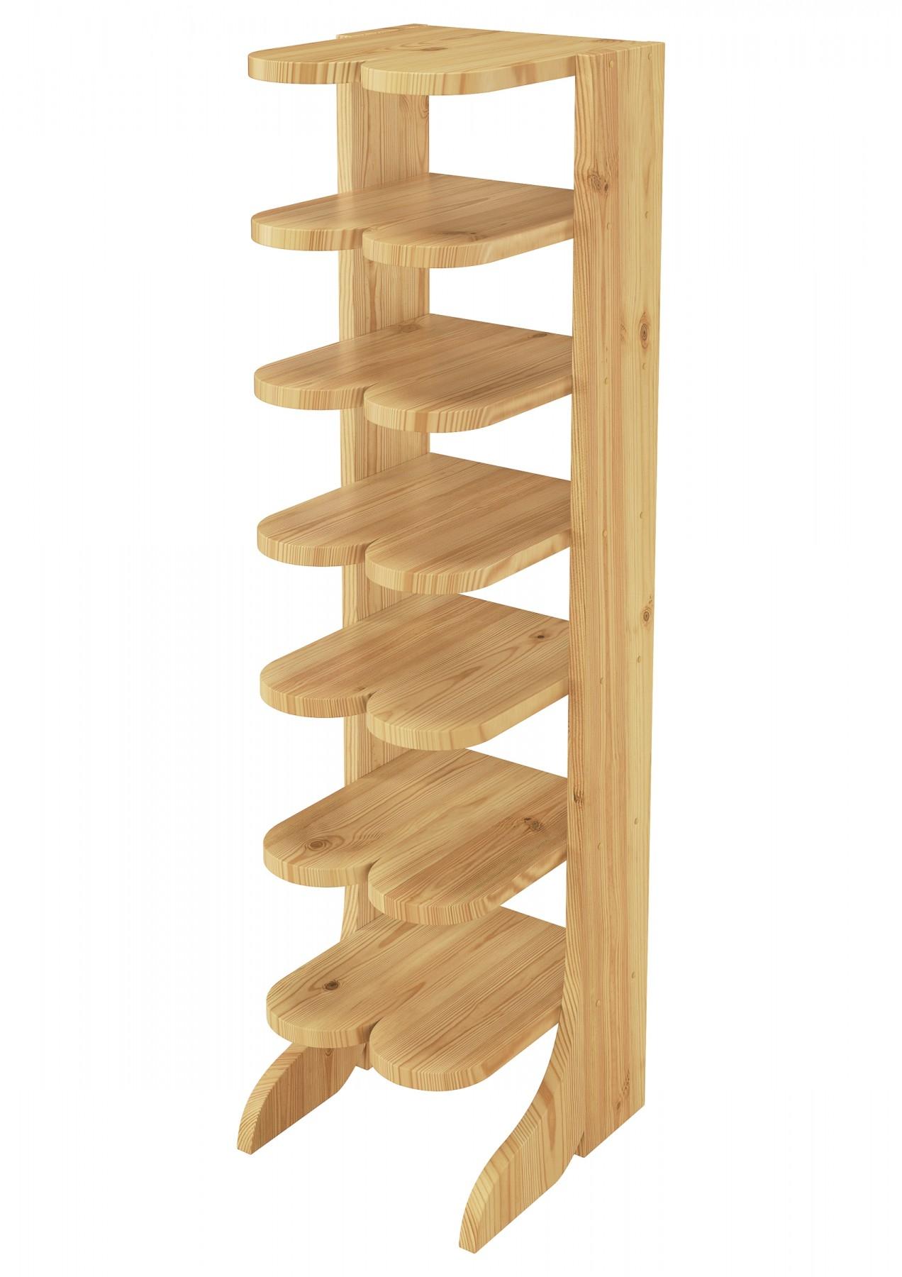 90.80-01 Doppel-Schuhregal Schuhst/änder Holz Stiefelform