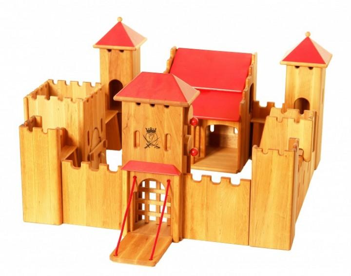 931-190 Schloß Ritterburg von Drewart ökologisches Holzspielzeug Kastell, Burg