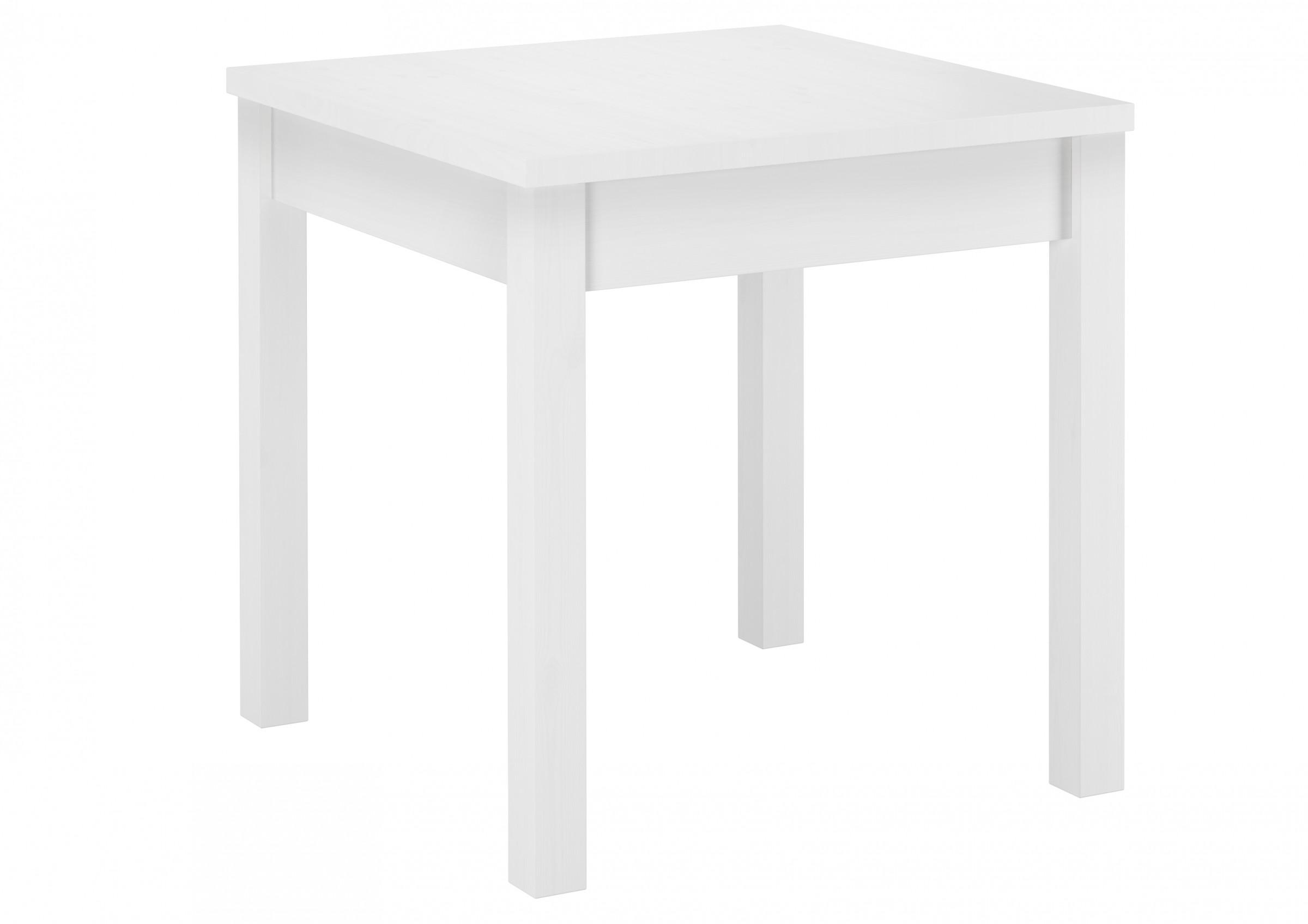 w wei er tisch esszimmertisch k chentisch beistelltisch kiefer massivholz 75x75x75 cm. Black Bedroom Furniture Sets. Home Design Ideas