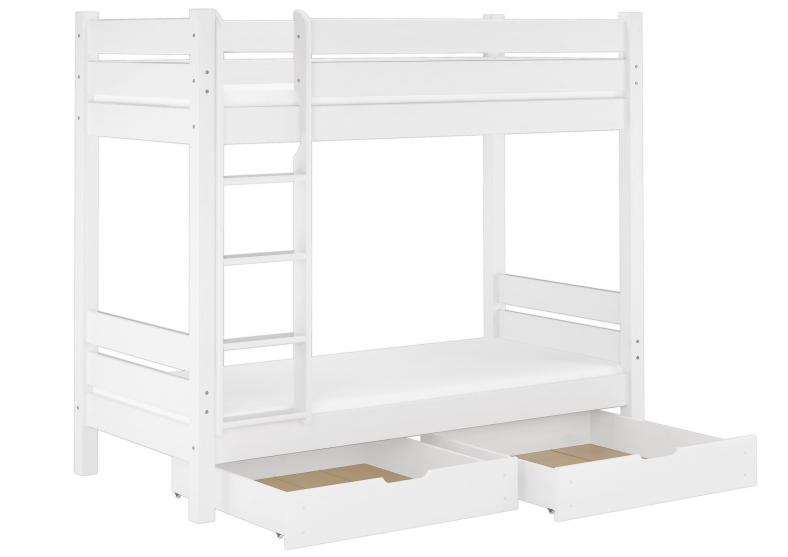 Etagenbett Weiss : Bett peter kinderzimmer etagenbett weiss blau emoebel
