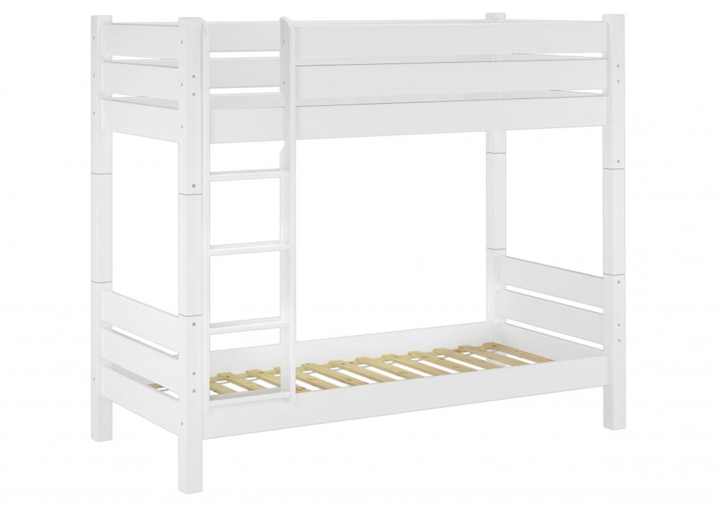 Etagenbett Weiss Metall : Flexa white etagenbett cm mit gerader leiter weiß natur