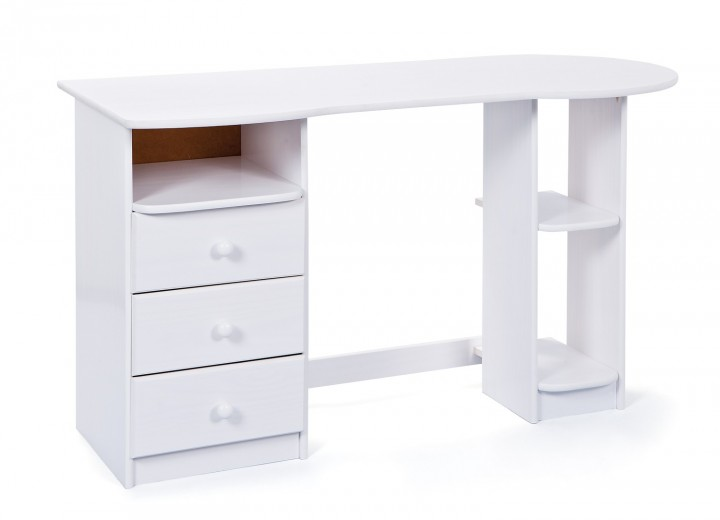 Schreibtisch Computertisch Gästeschreibtisch Touchround weiß 99.20600570