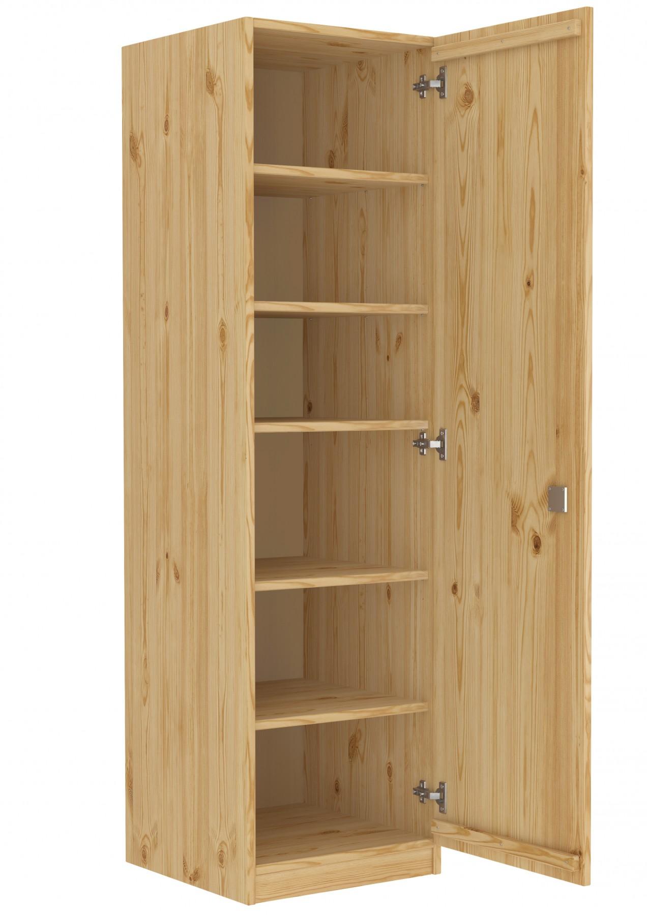 abschlie barer massivholzschrank als spind mit vielen f chern aus kiefer erst holz. Black Bedroom Furniture Sets. Home Design Ideas