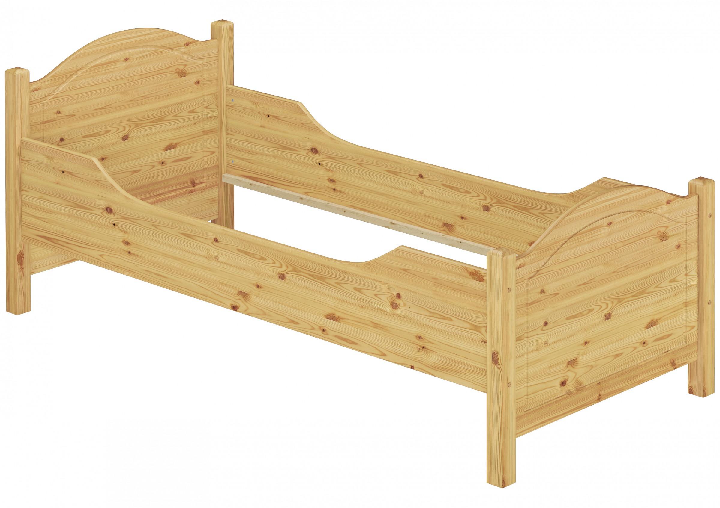 seniorenbett extra hoch 100x220 berl nge massivholz holzbett einzelbett g stebett. Black Bedroom Furniture Sets. Home Design Ideas