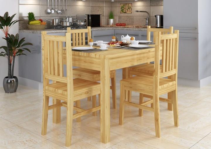 90 70 53 Set Schone Essgruppe Mit Tisch Und 4 Stuhlen Kiefer