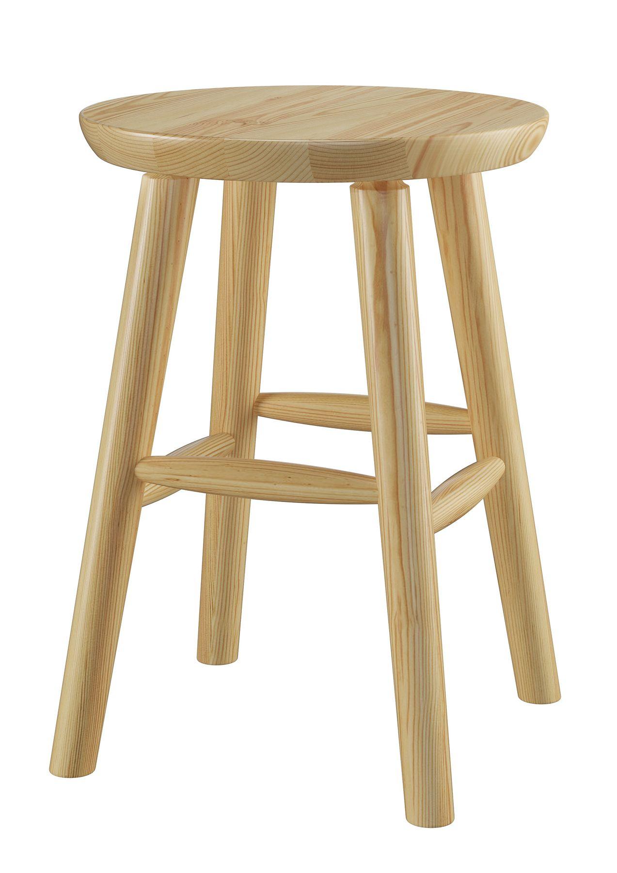 Runder Holz-Hocker als Beistelltisch oder Blumenhocker
