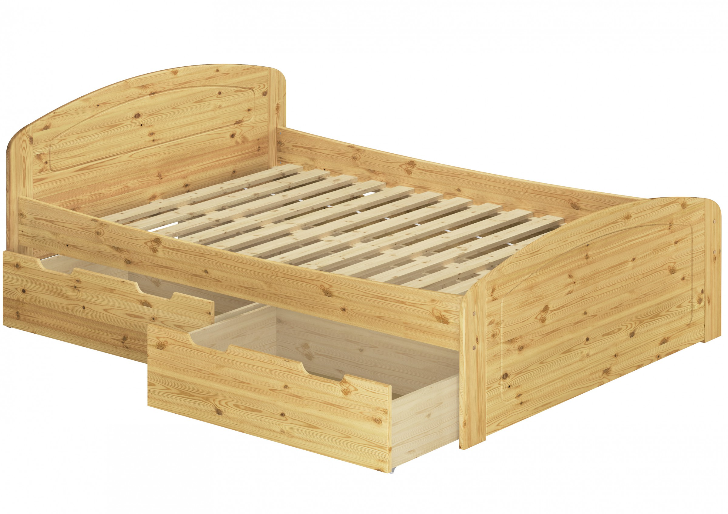 funktionsbett doppelbett mit 3 stauk sten rollrost 140x200 seniorenbett massivholz kiefer. Black Bedroom Furniture Sets. Home Design Ideas