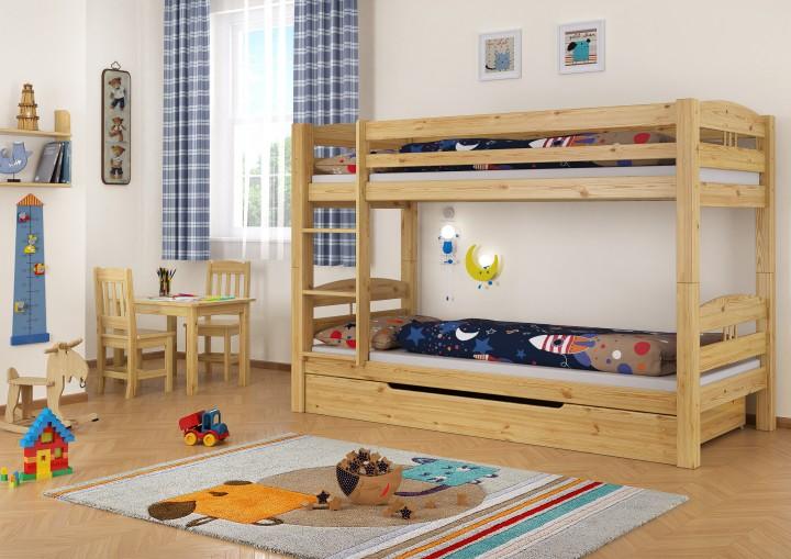 Etagenbett Mit Lattenrost Und Matratzen : Etagenbett kiefer kinderzimmer stockbett mädchen