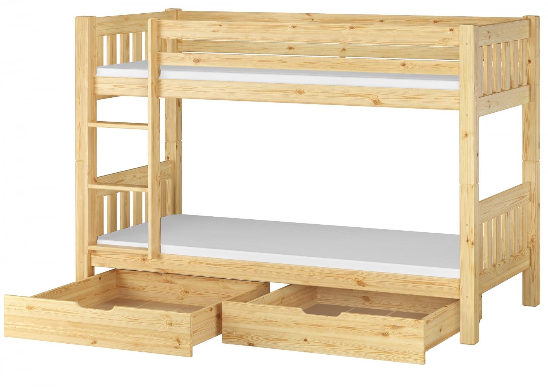 Etagenbetten Kinderzimmer : Kinderzimmer etagenbett massiv kiefer 90x200 stockbett matratzen