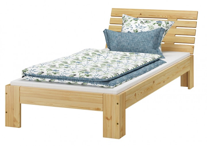 futon einzel bett 90 x 200 cm kiefer massiv mit rollrost mit matratze m erst. Black Bedroom Furniture Sets. Home Design Ideas