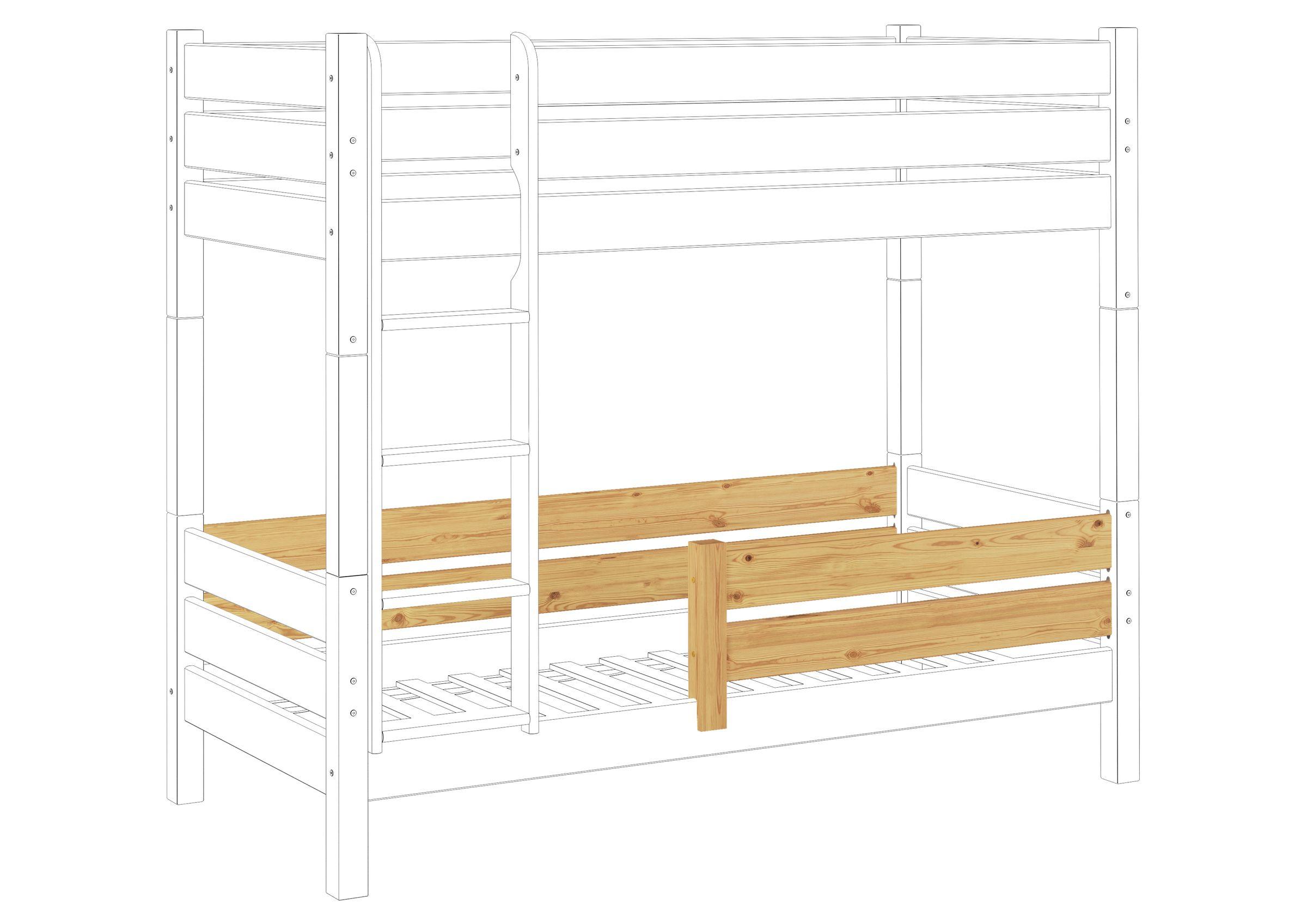 kindersicherung rausfallschutz f r etagenbetten modell f r untere liegefl che kisi 16. Black Bedroom Furniture Sets. Home Design Ideas