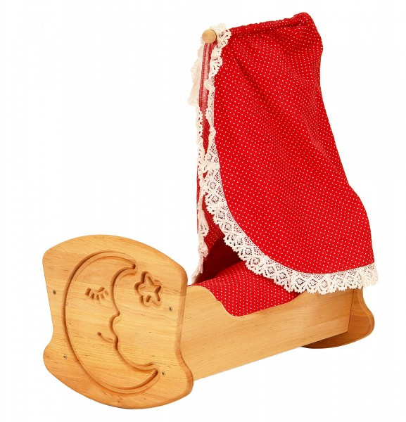 Puppenwiege-Holz