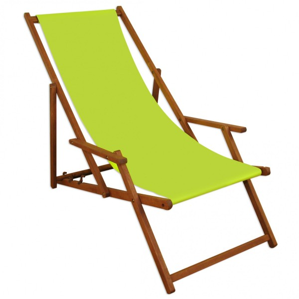 Extra lunga sedia a sdraio color pistacchio con parasole e ...