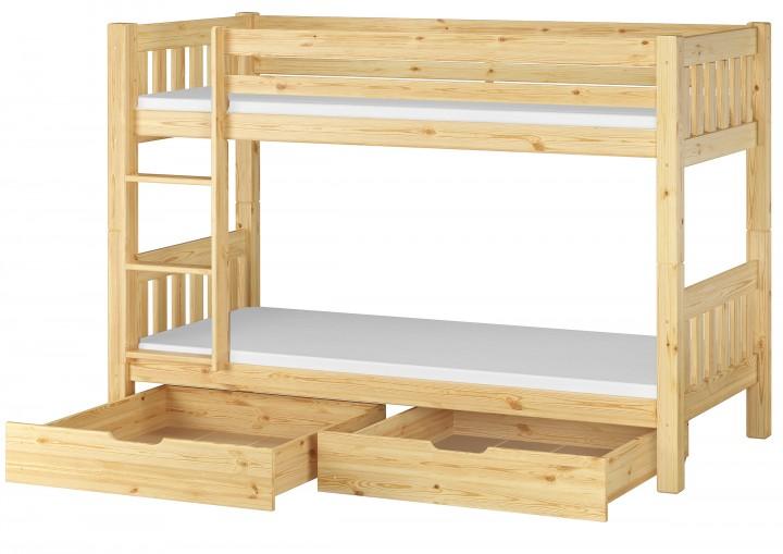 Kinderzimmer Etagenbett massiv Kiefer 90x200 Stockbett + Matratzen + ...