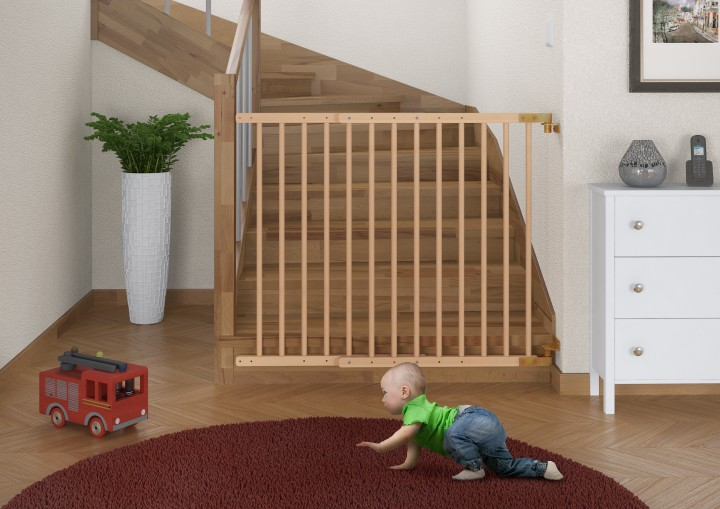Treppenschutz-Baby-Holz