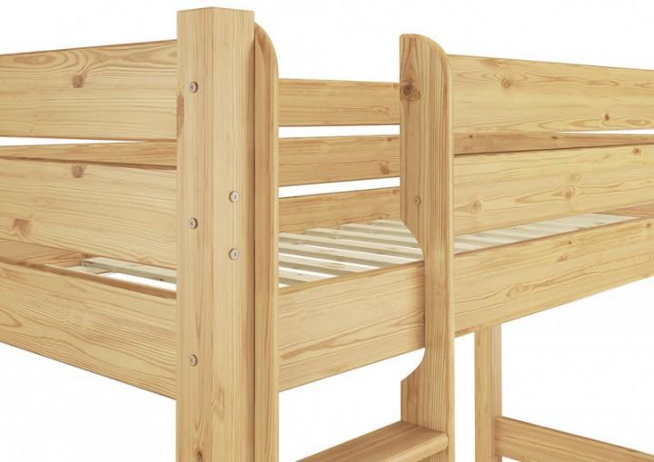 massivholz etagenbett kiefer 80x190 nische 100 stockbett rollrost matratzen m. Black Bedroom Furniture Sets. Home Design Ideas