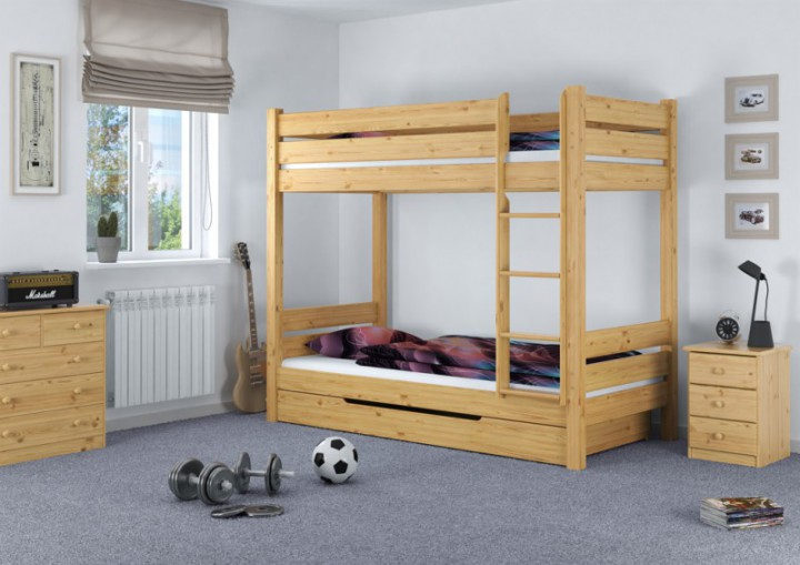 etagenbett f r erwachsene 90x200 nische 100 stockbett rollrost matratzen bettkasten m. Black Bedroom Furniture Sets. Home Design Ideas