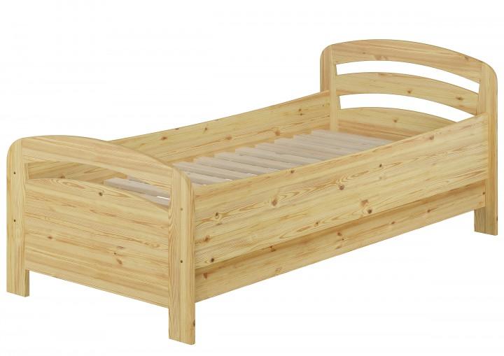 seniorenbett extra hoch 90x200 einzelbett mit rollrost kiefer bett massivholz holzbett. Black Bedroom Furniture Sets. Home Design Ideas