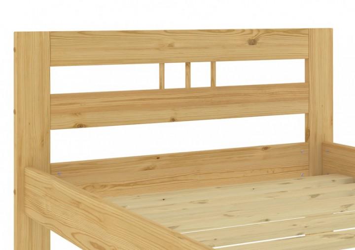 einzelbett kiefer natur massivholz 100x200 futonbett jugendbett mit rollrost. Black Bedroom Furniture Sets. Home Design Ideas