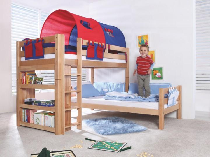 90 18 blaurot relita tunnel f r etagenbett beni l. Black Bedroom Furniture Sets. Home Design Ideas