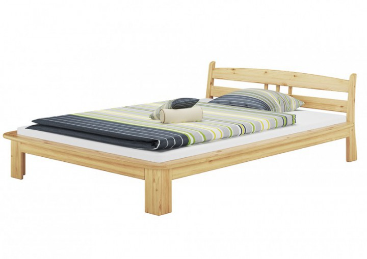 bettgestell kiefer natur doppelbett 140x200 massivholz. Black Bedroom Furniture Sets. Home Design Ideas